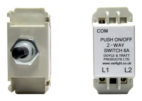 Varilight MH0 Dummy Dimmer Module 2-Way Push-On/Off Switch 6A