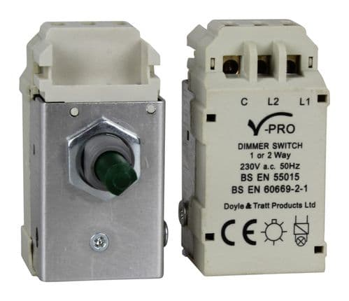 Varilight MJP300 Dimmer Module 2-Way Push-On/Off LED Dimmer 0-300W V-Pro