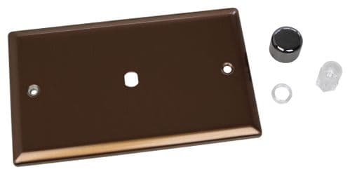 Varilight WYD1.BZ Urban Brushed Bronze 1 Gang Dimmer Plate Only + Knobs (Twin Plate)