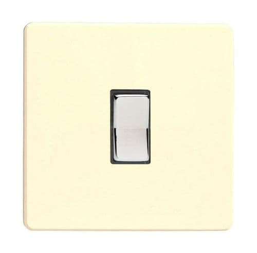 Varilight XDWR1S Screwless White Chocolate 1 Gang 10A 1 or 2 Way Retractive Light Switch