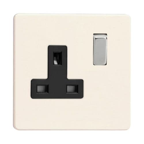 Varilight XDY4BS.PD Screwless Primed 1 Gang 13A DP Single Switched Plug Socket