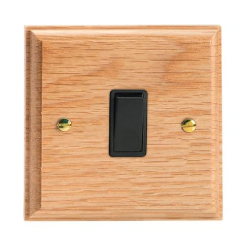 Varilight XK1OB Kilnwood Oak 1 Gang 10A 1 or 2 Way Rocker Light Switch