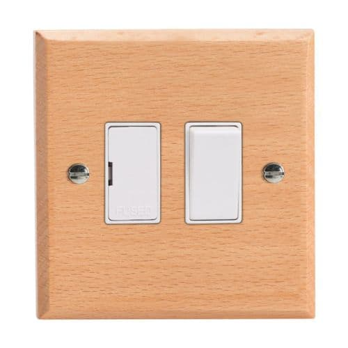Varilight XK6BEW Kilnwood Scandic Beech 1 Gang 13A Switched Fused Spur