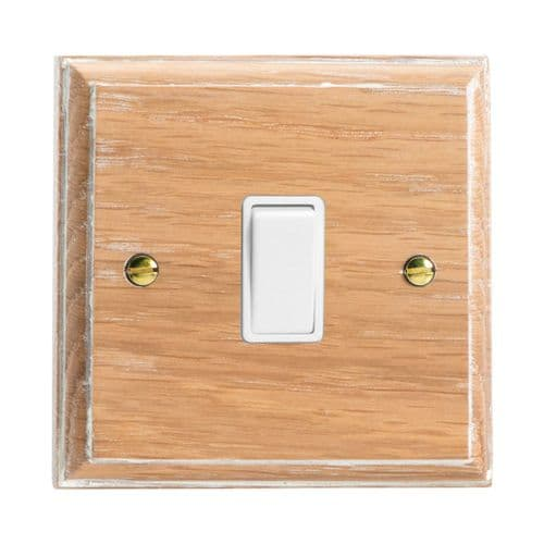 Varilight XK7LOW Kilnwood Limed Oak 1 Gang 10A Intermediate Rocker Light Switch