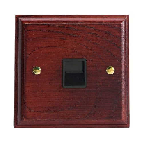 Varilight XKTSMB Kilnwood Mahogany 1 Gang Telephone Slave (Extension) Socket