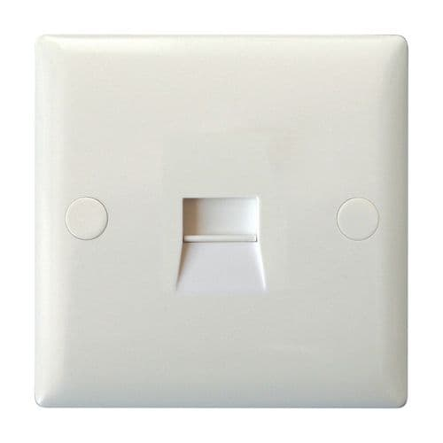Varilight XOTMW Value Polar White 1 Gang Telephone Master Socket