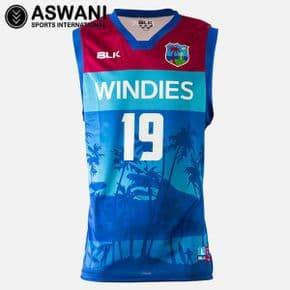 2019 West Indies (Windies) Cricket Basketball-Style Singlet - Mens