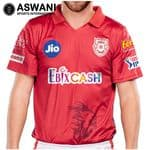 2020 Official Kings XI Punjab KXIP Dream11 IPL Player Jersey / Shirt, Plain