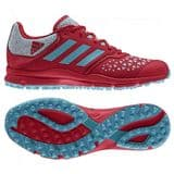 Adidas Zone Dox Mens Hockey Shoes - Red/Aqua