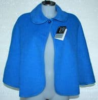 Pyrenean Wool Cape/ Bed Jacket SKY BLUE