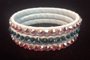 Pale Turquoise Bangles with Light Turquoise or AB Swarovski