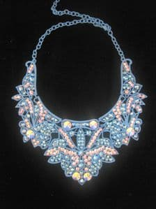 Sparkling Sapphire AB Crystal Necklace