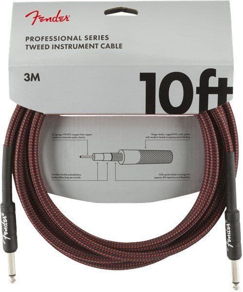 Fender Professional Series 10ft Red Tweed Instrument Cable