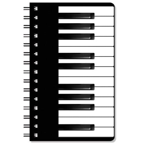 Keyboard pocket notebook