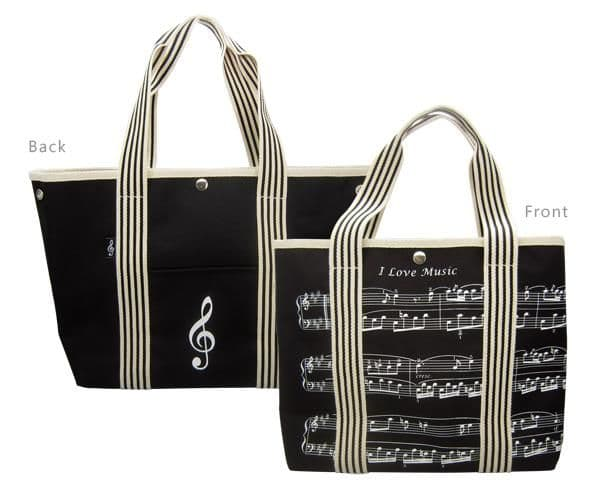 Musical Staves Canvas Tote Bag