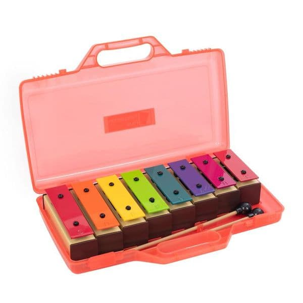 Percussion Plus set of 8 chime bars with case