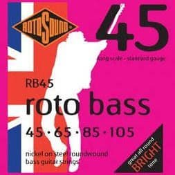 Rotosound RB45 Rotobass Nickel Roundwound Bass Guitar Strings 45-105