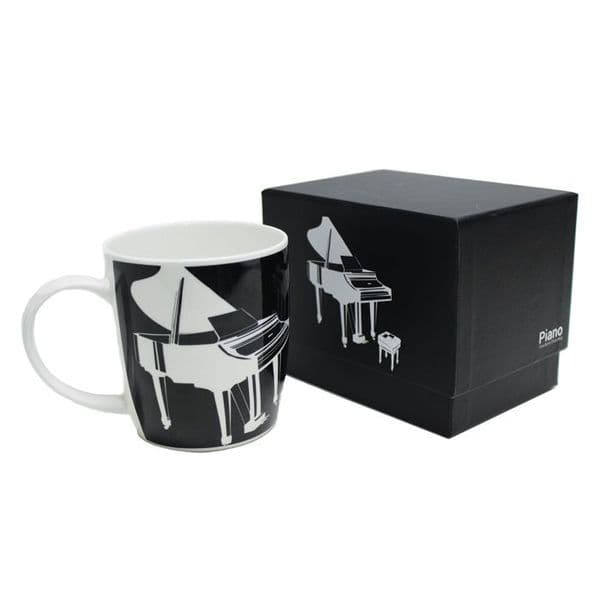 Silhouette Bone China Boxed Mug Piano Black