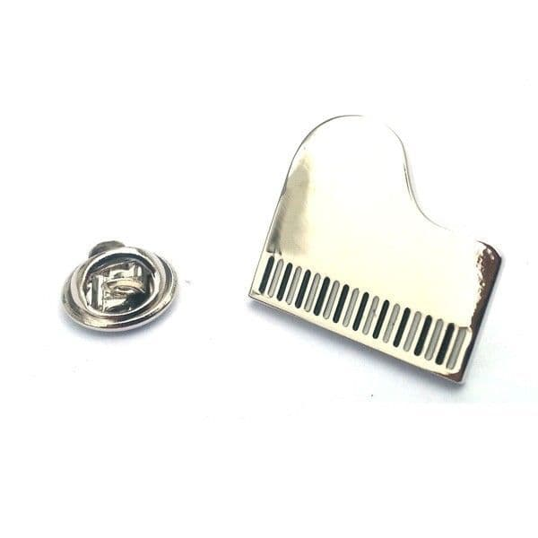 Silver Grand Piano Lapel Badge