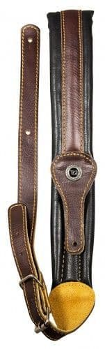 TGI Guitar Strap Leather Padded Narrow Brown/Black