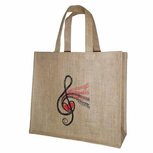 Treble Clef Tweed Tote Bag