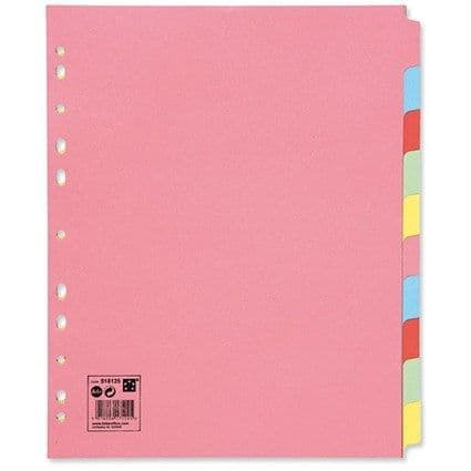 5 Star Extra Wide Subject Divider A4 10 Part
