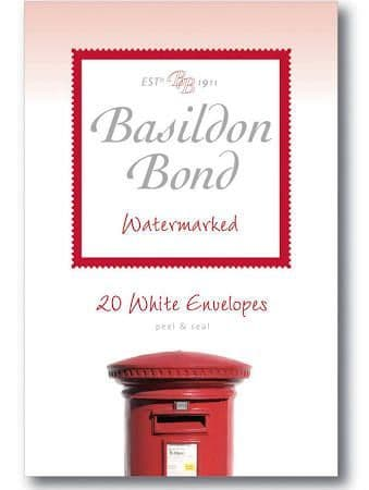 Basildon Bond 95 x 143 mm Peel and Seal Envelope - White (Pack of 20)
