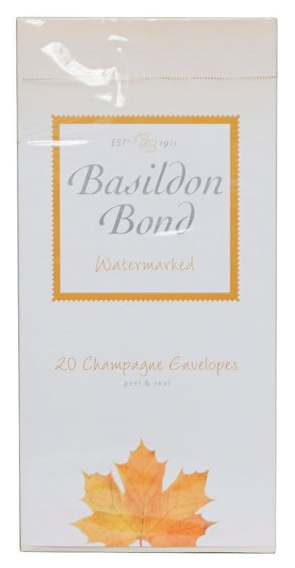 Basildon Bond Peel and Seal Envelope - Champagne 89 x 187 mm(Pack of 20)