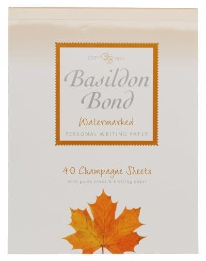 Basildon Bond Small Writing Pad 178 x 137 mm  40 sheets Champagne