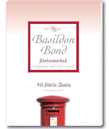 Basildon Bond Writing Pad 178x137mm 90 Pages 40 Sheets - Color: White