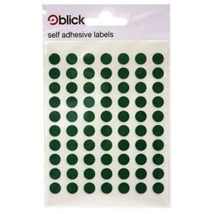 Blick Self Adhesive Labels Green 8mm Pack of 490
