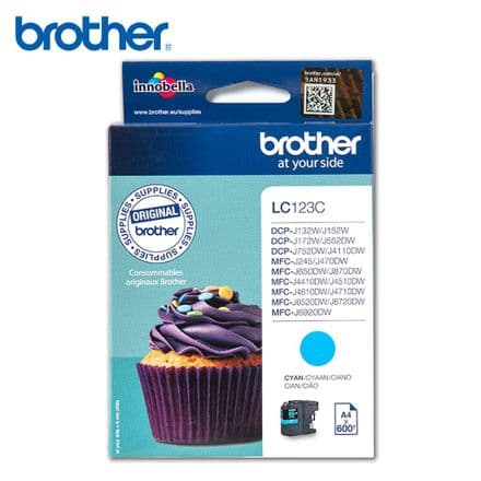 Brother LC 123C Ink Cartridge - Cyan