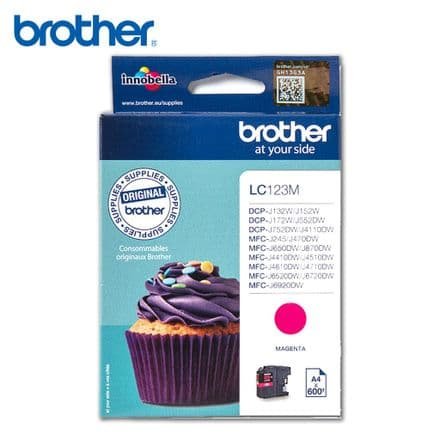 Brother LC 123M Ink Cartridge - Magenta