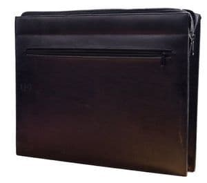 Cathedral Conference Folder with Zip Foolscap  Black