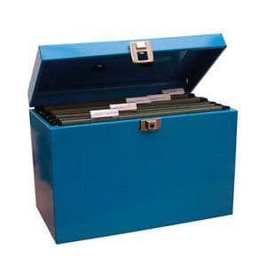 Cathedral File Box  Foolscap - blue