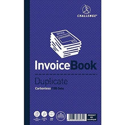 Challenge Invoice Book Duplicate Carbonless 100 sets