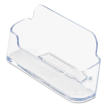 Deflecto - Business card holder - 50 cards - clear