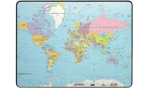 Durable - Desk Pad World Map 40 x 53 cm