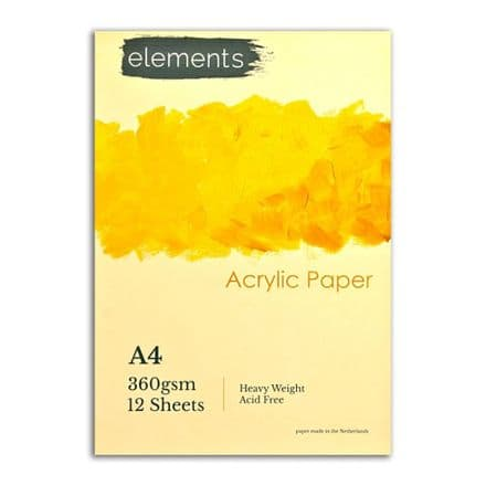 Elements Acrylic Pad - A4
