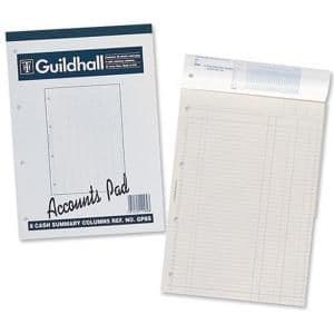 Guildhall Analysis Pads 2 Cash Columns per Page