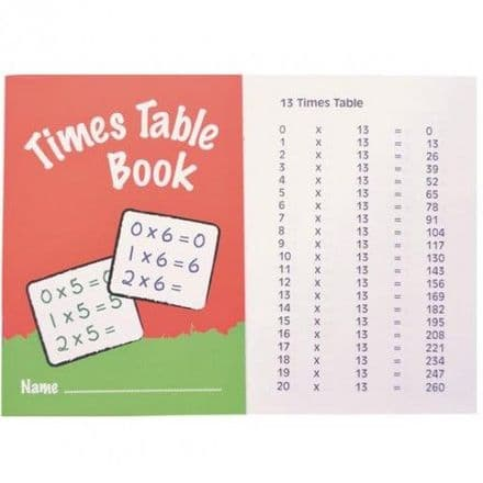 IVY TIMES TABLES BOOK