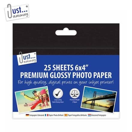 Just Stationery Premium Glossy Photo Paper - 6x4""