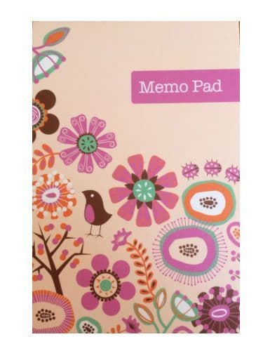 Powell Creative Products Small Notebook Flip Top Decorated Paperwith Bird Design Retro Note Book