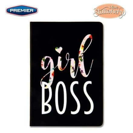 Premier I Love Stationery A5 Journal Quotes Floral -Girl Boss