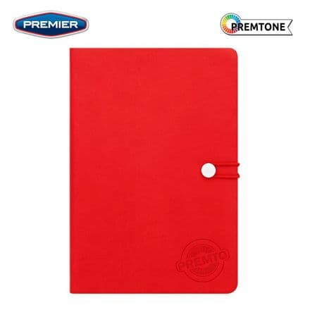 Premier PremtoA5 Hardcover PU Notebook with Elastic  - Ketchup Red