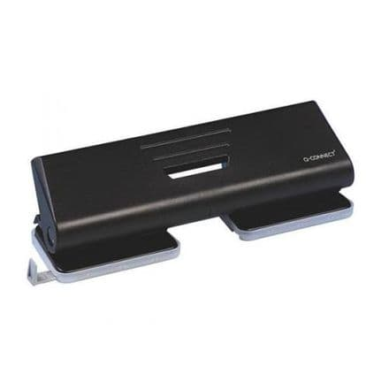 Q-Connect 4 Hole Punch Black
