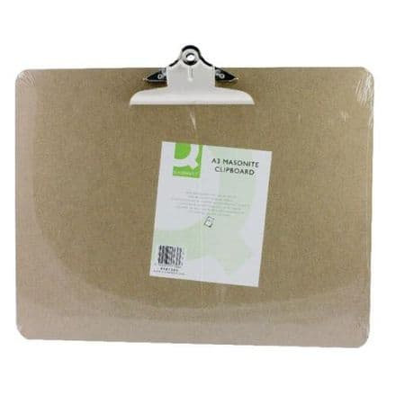 Q-Connect  A3 Masonite Clipboard (Brown)