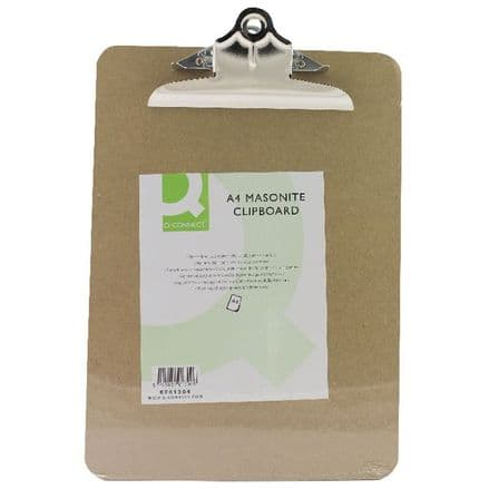 Q-Connect  A4 Masonite Clipboard (Brown)