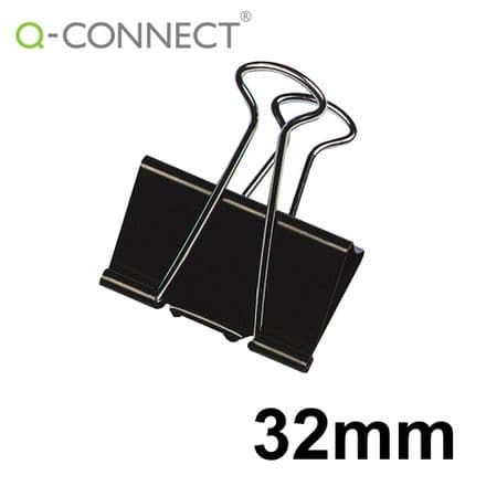Q-Connect Foldback Clip 32mm Black (10 Pack)