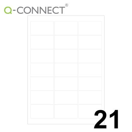 Q-Connect Multipurpose Labels 21 Per Sheet (63.5x38mm)